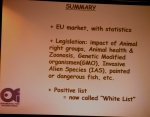 Seminarier. Gerald Bassleer. EU legislation: potential restricted trade risks and the implications o
